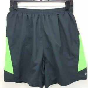 Nike Dri Fit Running Shorts Large Soccer Green